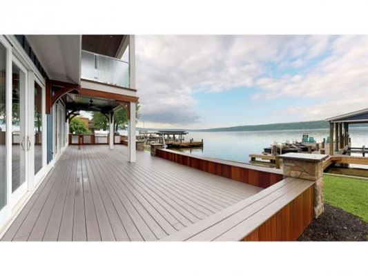 Luxury real estate New Build with 75' of Owned Cayuga Lake Frontage, Panoramic Lake Views & Access