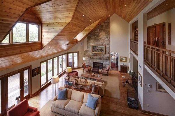 a Warm and welcoming stone home luxury homes