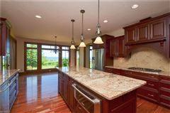 magnificent custom-built lake front home  luxury properties