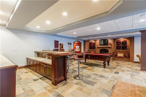 Palatial all brick estate on a private and peaceful two acre cul-de-sac setting mansions