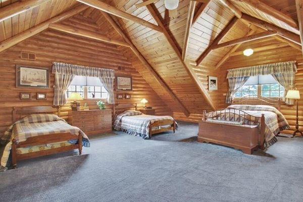luxury log home on 69 exceptional wooded acres luxury properties