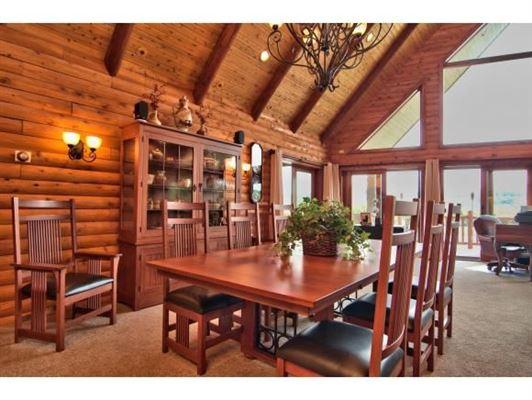 Luxury homes in luxurious cedar home on over 57 acres