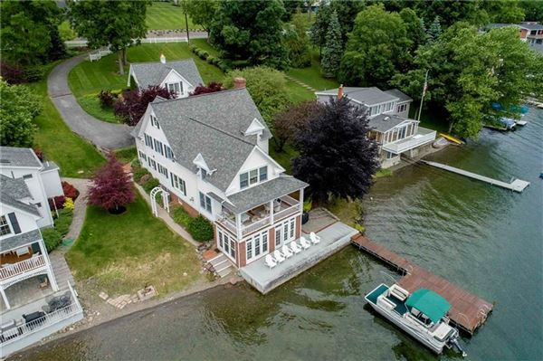 Luxury real estate rare year-round lake house