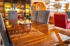 Luxury homes in custom built Montana Log home on over 50 acres
