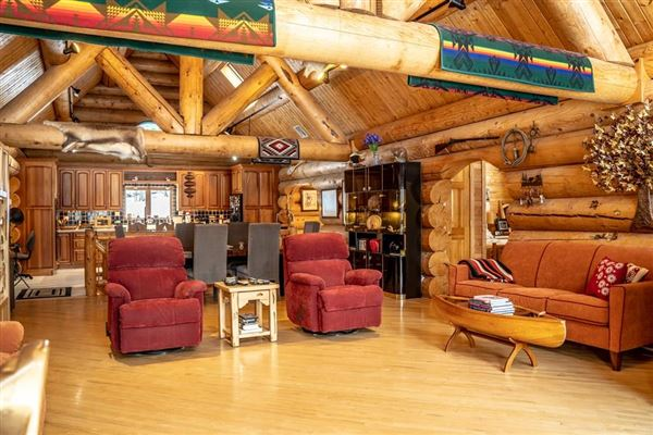 custom built Montana Log home on over 50 acres luxury real estate