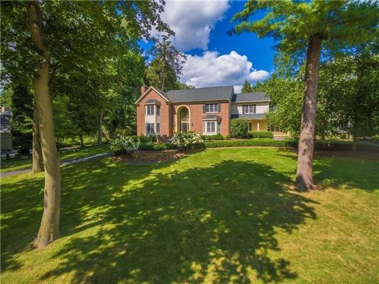 Luxury real estate spectacular brick front English country estate