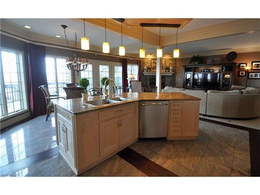 dramatic, contemporary home in avon lake luxury properties