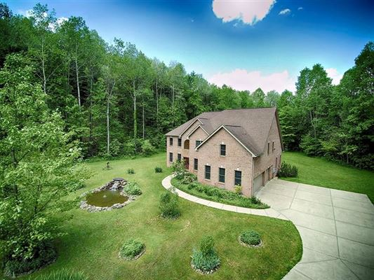 Mansions custom executive brick home on  over 68 acres