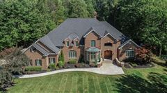 stately brick home on five wooded acres luxury real estate