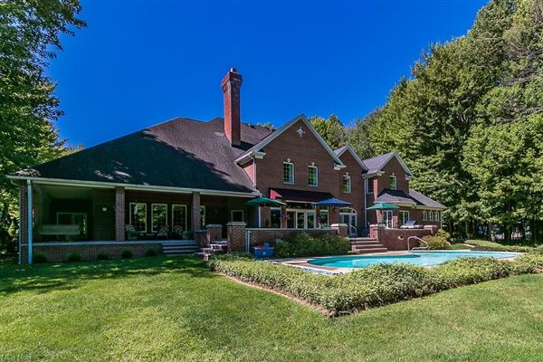 stately brick home on five wooded acres luxury homes