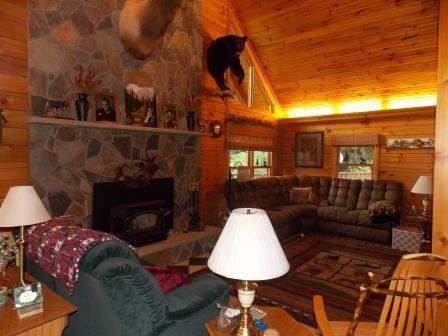 custom log home on 119 acres mansions