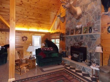 Luxury homes in custom log home on 119 acres