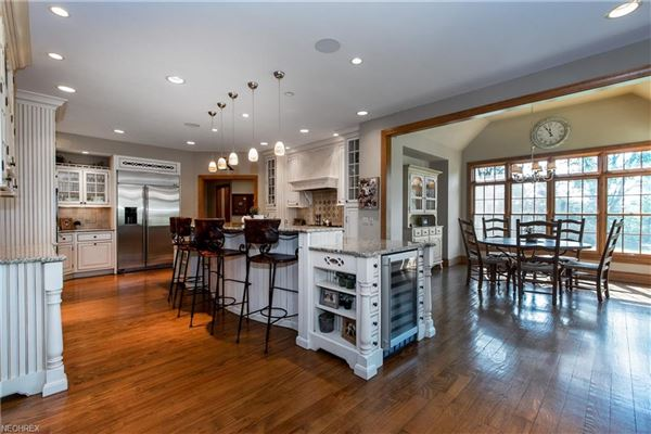 beautiful two-story foyer offers an outdoor deck mansions