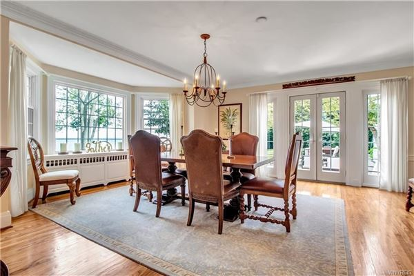 Luxury real estate exquisite home with stunning views along Lake Erie