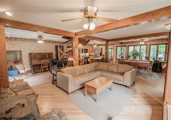 Unique home on 19 acres in Cheat Lake luxury homes