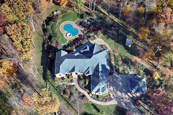 Luxury homes Magnificent estate home on serene property