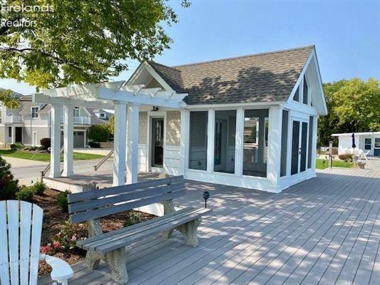custom home on a lake to bay Cedar Point lot luxury homes