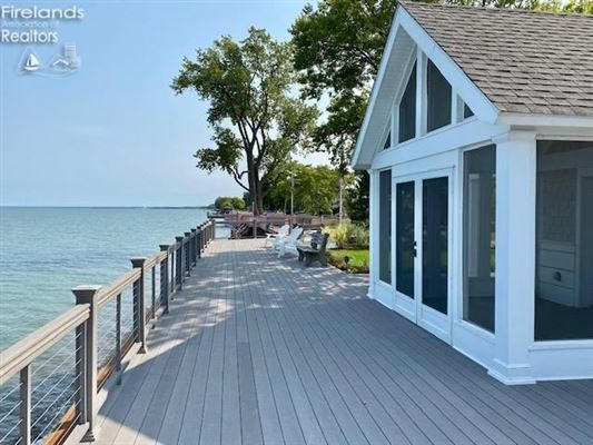 custom home on a lake to bay Cedar Point lot luxury real estate