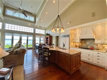 Luxury real estate custom home on a lake to bay Cedar Point lot
