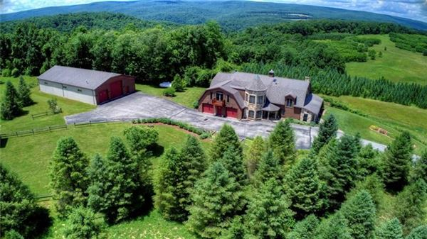 Mansions this custom home has 360 degree views and privacy atop a mountain