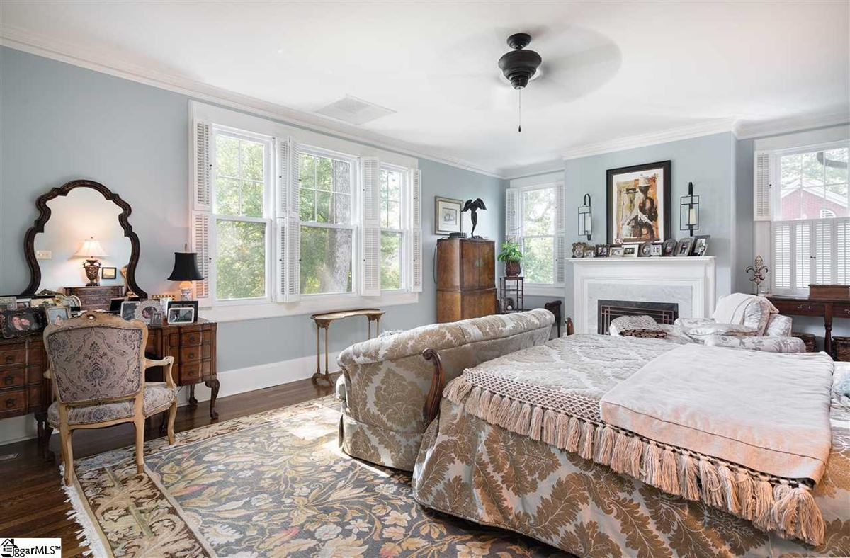 Mansions in restored and renovated tudor revival gem