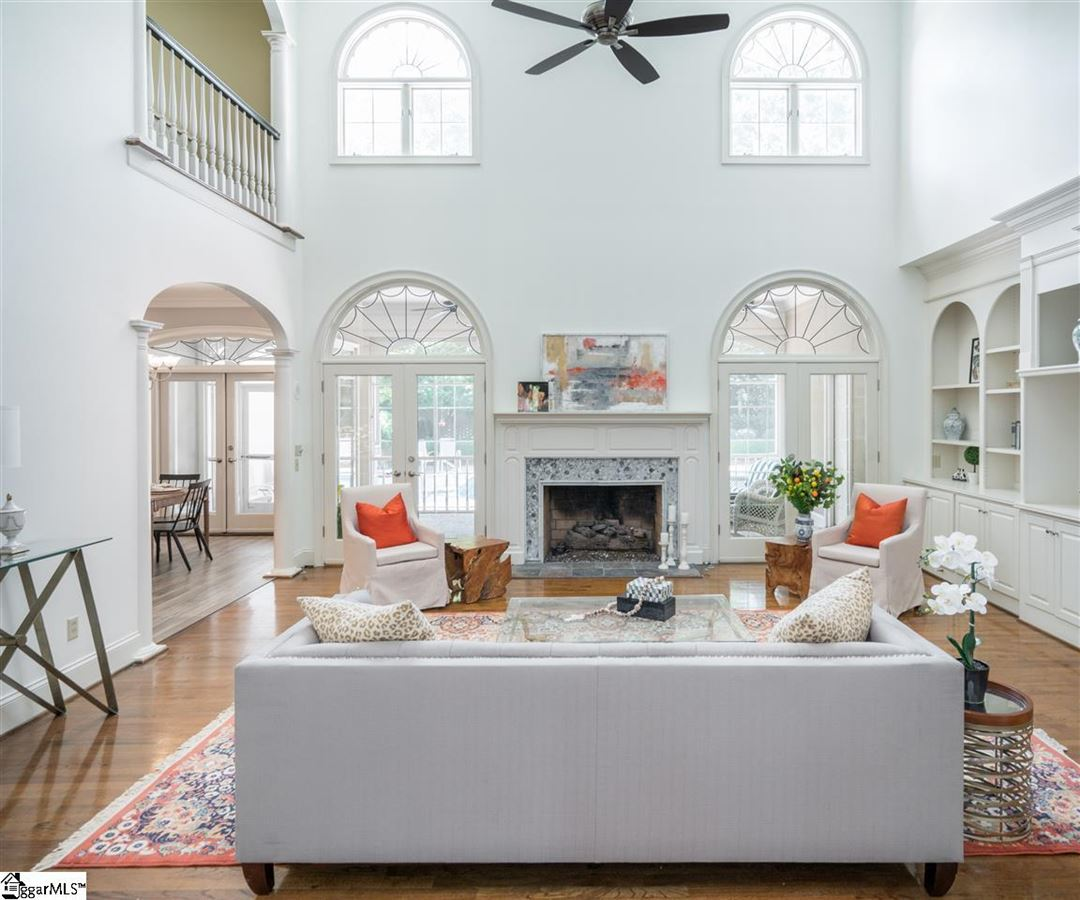 Luxury real estate custom home with traditional elegance