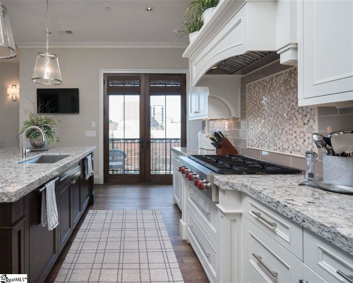 rare two-level corner condo in downtown Greenville luxury real estate