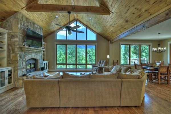 Luxury homes in  GRAND HOME BOAsts Mountaintown Creek frontage with long-range mountain views