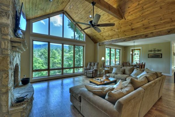 Mansions in  GRAND HOME BOAsts Mountaintown Creek frontage with long-range mountain views