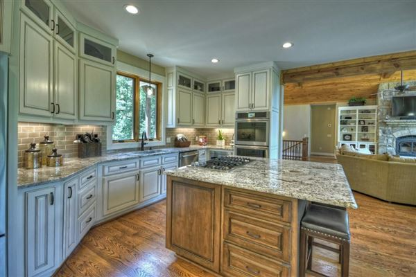 GRAND HOME BOAsts Mountaintown Creek frontage with long-range mountain views luxury homes