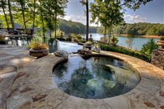 One of the most stunning homes on Lake Blue Ridge mansions