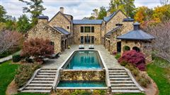 Luxury homes in grand Sandy Springs gated estate