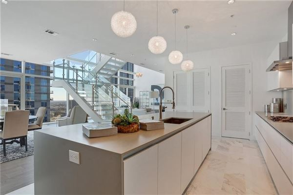 Luxury real estate Sought-after two-story penthouse on top of the W Residences