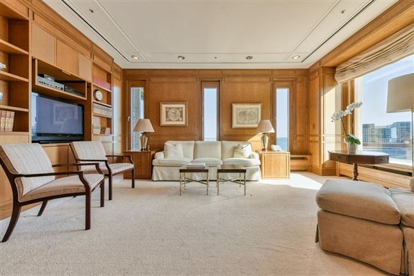 premier penthouse atop Rowes Wharf luxury homes