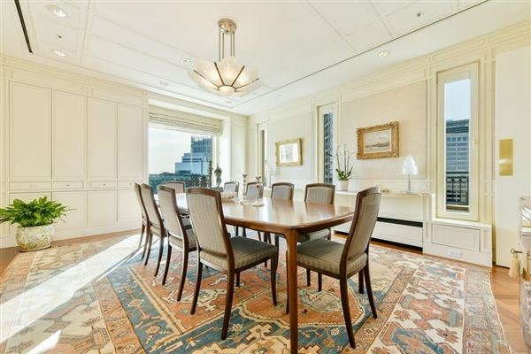 Luxury real estate premier penthouse atop Rowes Wharf