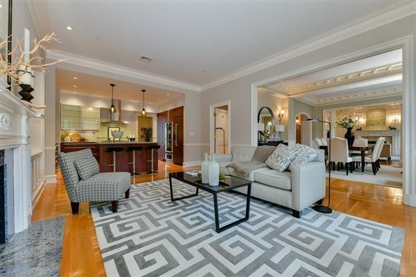 Luxury homes dramatic and sophisticated floor-through home