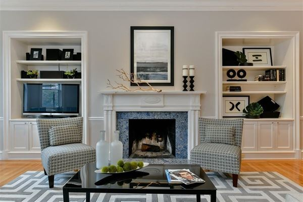 dramatic and sophisticated floor-through home luxury homes