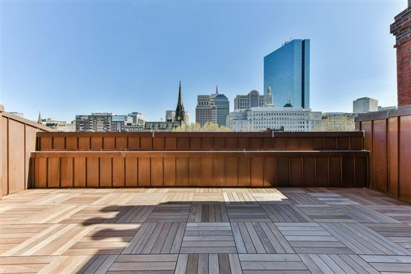 Luxury properties the Penthouse at 35 Commonwealth Avenue