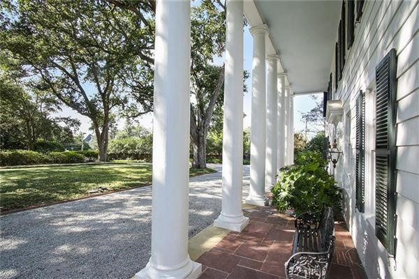 Luxury real estate grand colonial overlooking country club golf course