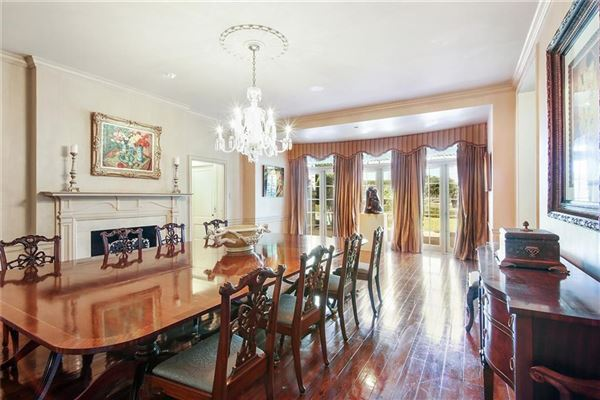Mansions grand colonial overlooking country club golf course