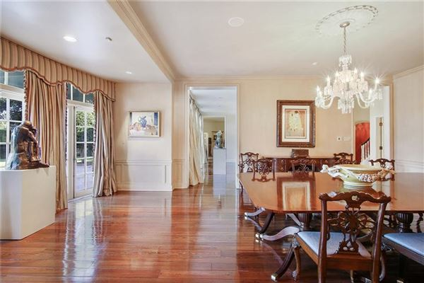 grand colonial overlooking country club golf course mansions