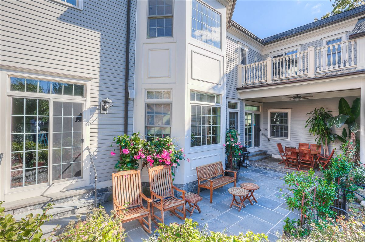 custom colonial with private beach access mansions
