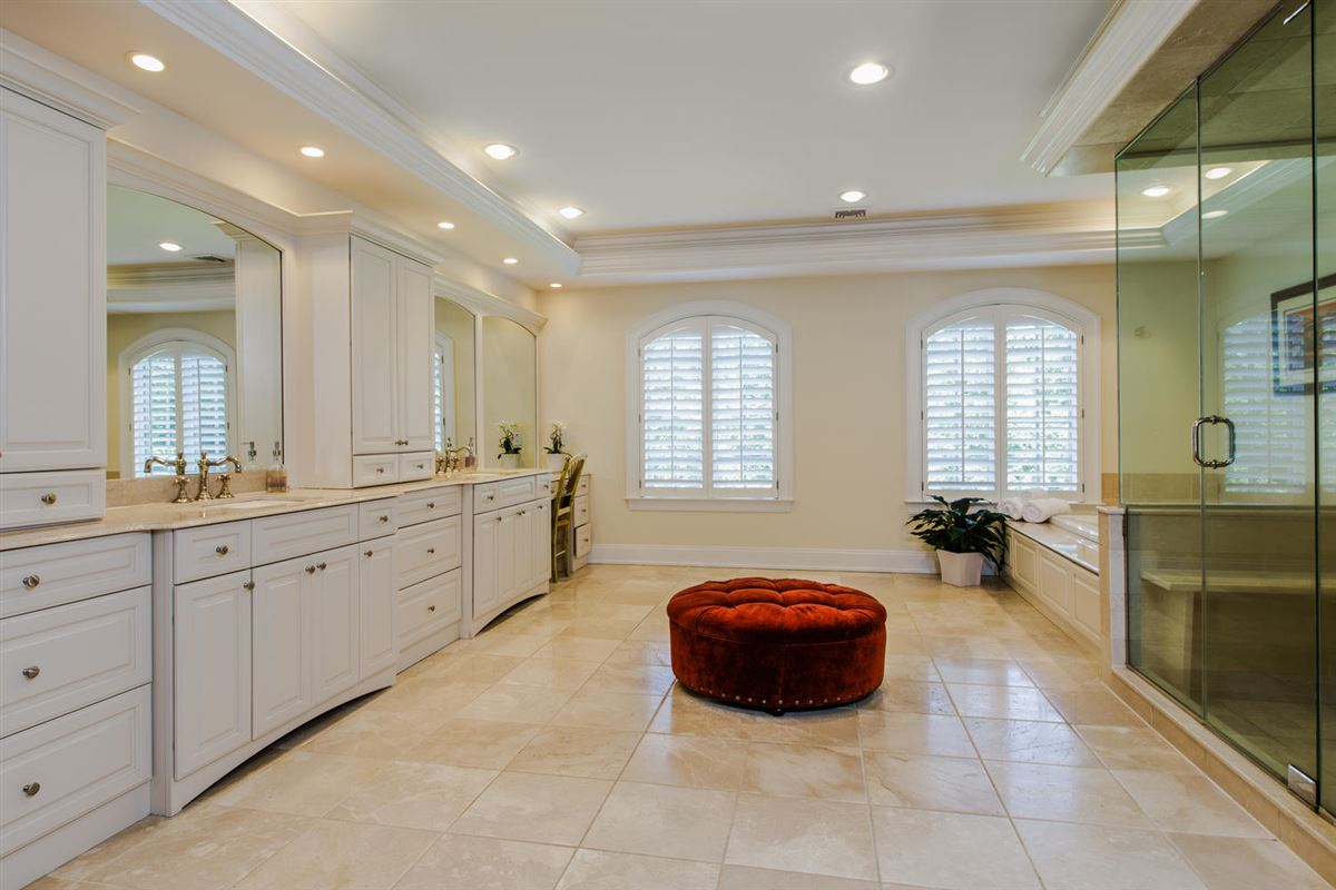 Luxury homes in classic Woodcrest stone and shingle Colonial
