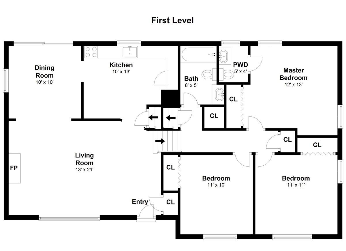 Mansions Inviting three bedroom split-level ranch
