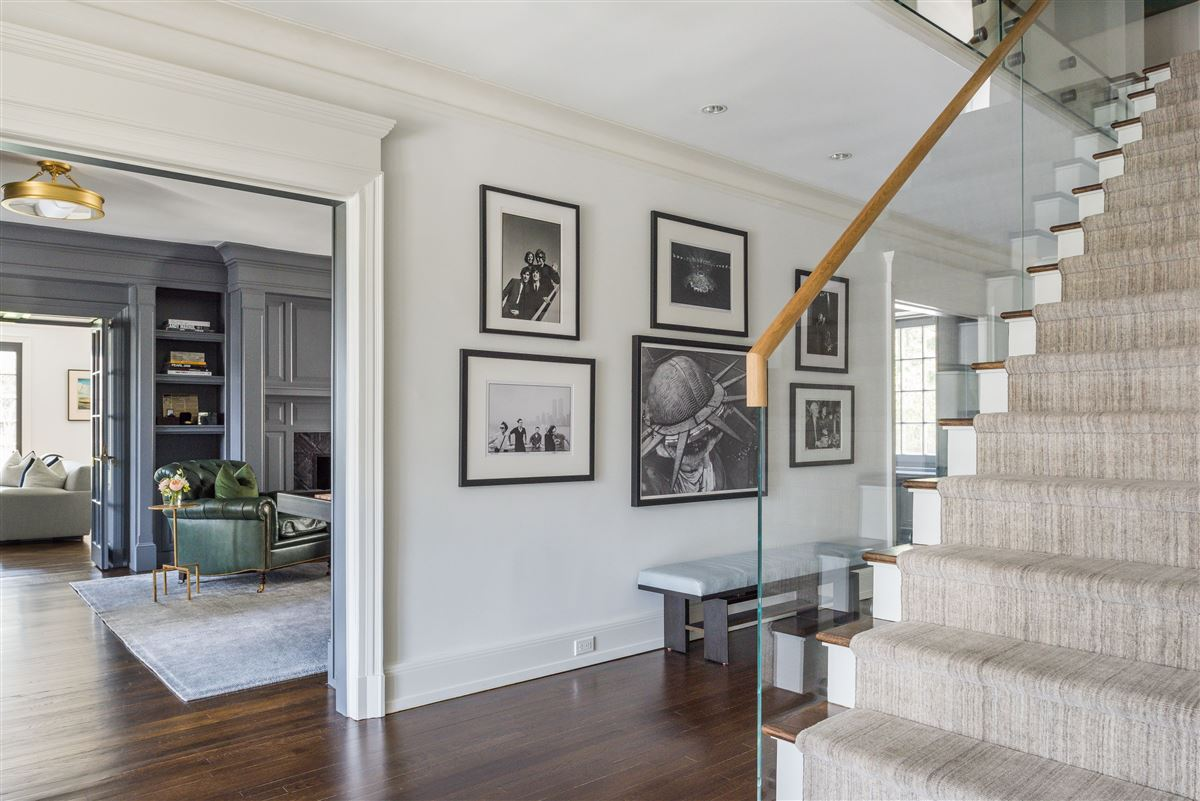 renovated waterfront Georgian Colonial  luxury real estate