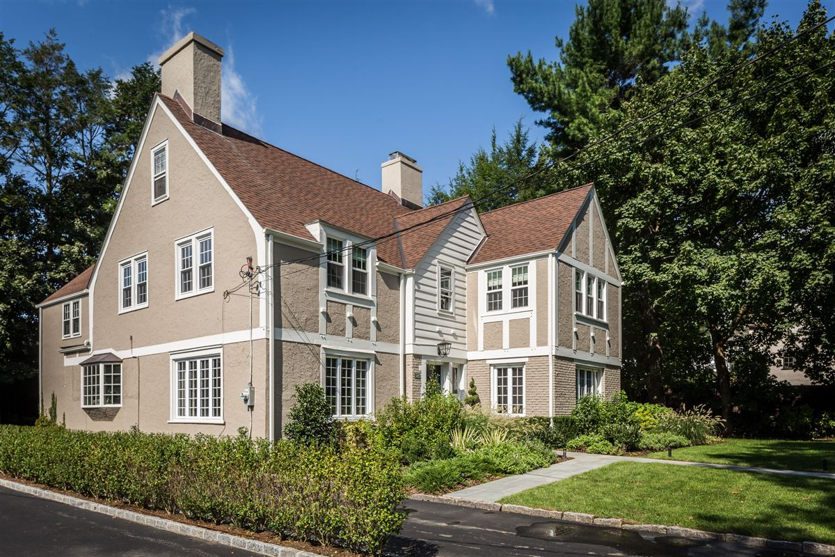 Luxury real estate Handsome Tudor overlooking the Bronxville Field Club