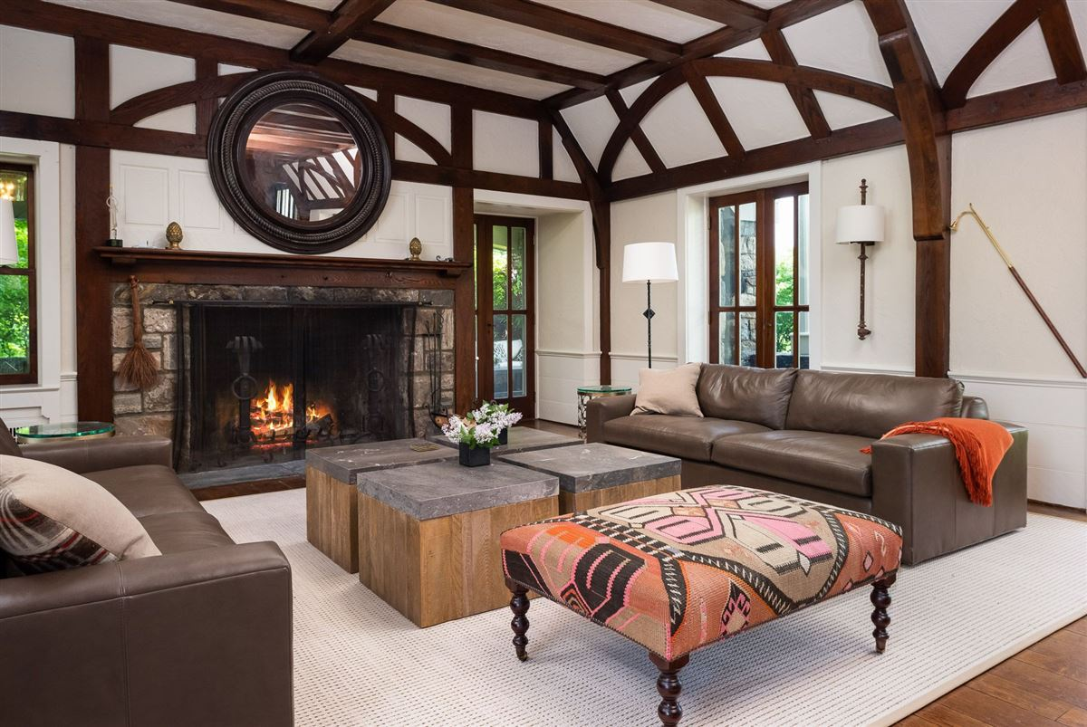 renovated vintage stone manor and guest house on 17-plus acres luxury homes