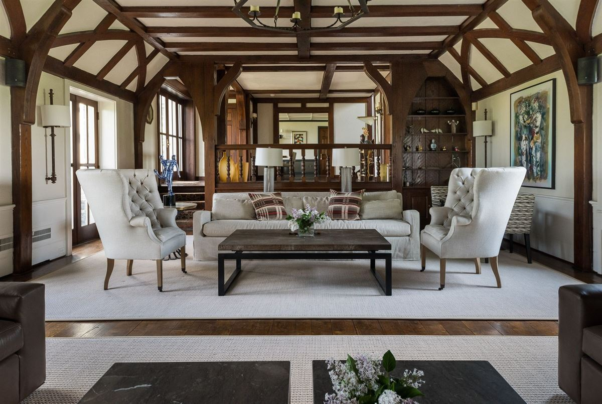 renovated vintage stone manor and guest house on 17-plus acres luxury real estate