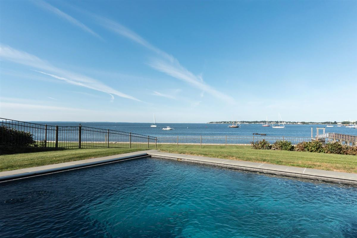 Mansions exquisite custom-built Long Neck Point direct waterfront home