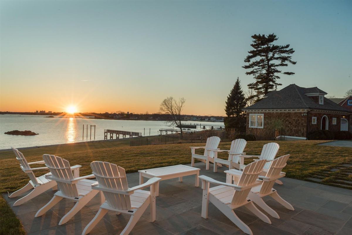 Luxury homes exquisite custom-built Long Neck Point direct waterfront home